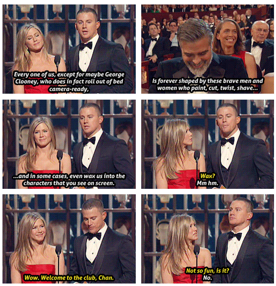 Oscars 2013 (85th Academy Awards) Quote (About wax George Clooney bed)