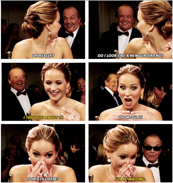 Oscars 2013 (85th Academy Awards) Quote (About interview funny backstage)
