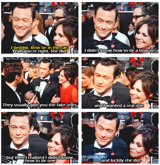 Oscars 2013 (85th Academy Awards) Quote (About red carpet bow tie)