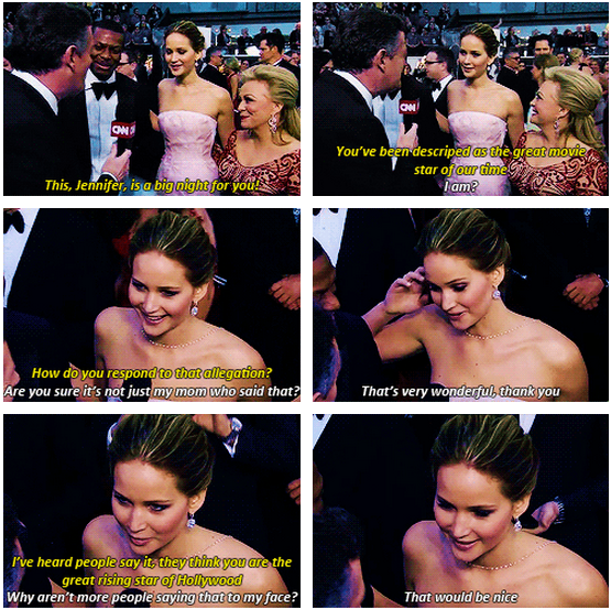 Oscars 2013 (85th Academy Awards) Quote (About red carpet real interview hollywood)