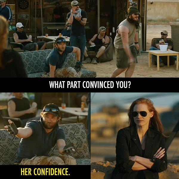 Zero Dark Thirty (2012) Quote (About convince confidence)