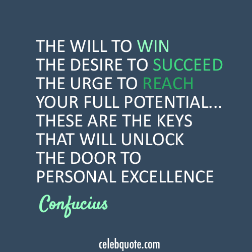 Confucius Quote (About win will success succeed)