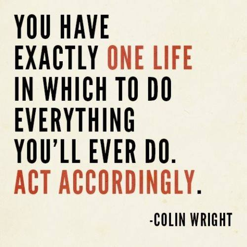 Colin Wright Quote (About life idea action)
