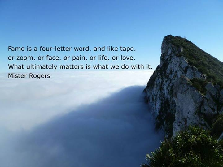 Fred Rogers Quote (About word fame)