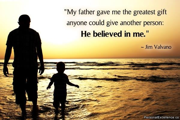 Jim Valvano Quote (About son gift father believe)