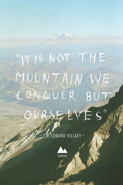 Edmund Hillary Quote (About mountain conquer)