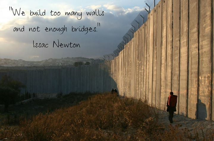 Issac Newton Quote (About walls bridges)