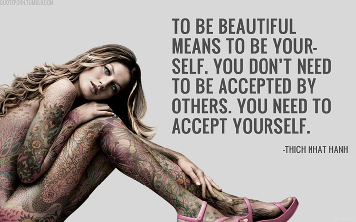 Thich Nhat Hanh Quote (About beautiful be yourself accept)
