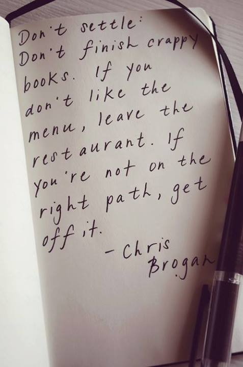 Chris Brogan Quote (About settle restaurant books)
