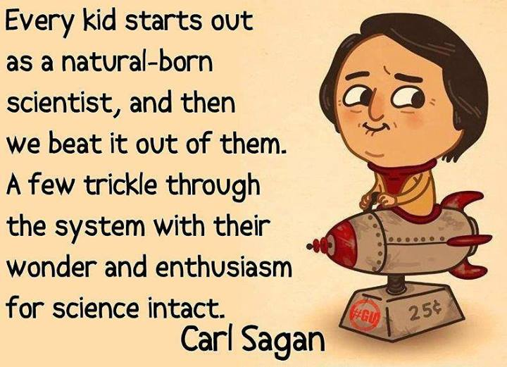 Carl Sagan Quote (About scientist science kid)
