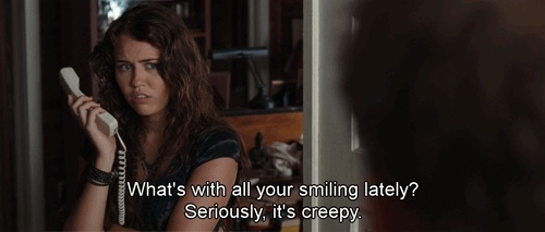 The Last Song (2010)  Quote (About smiling smile creepy)