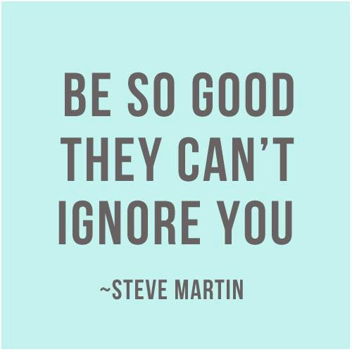 Steve Martin Quote (About success ignore confidence charm)