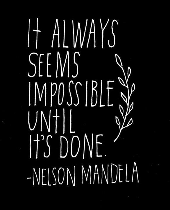 Nelson Mandela Quote (About success possible impossible)