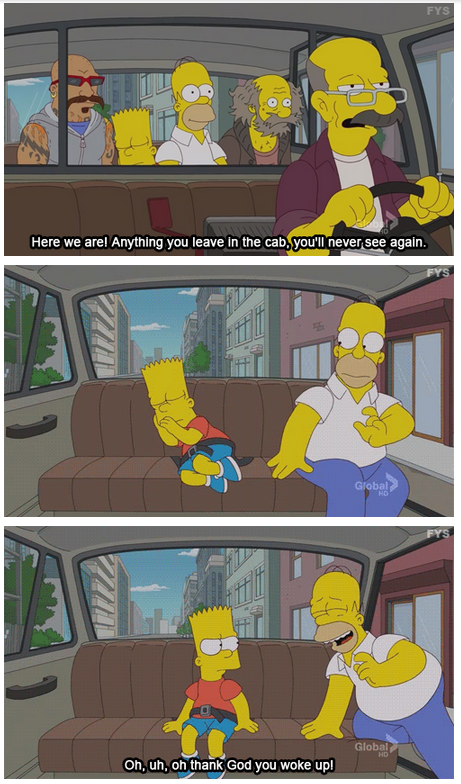The Simpsons  Quote (About wake up taxi cab)