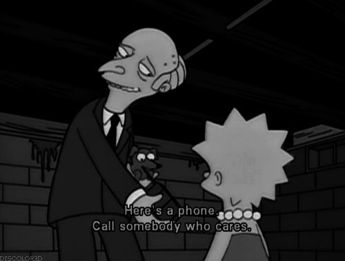 The Simpsons  Quote (About phone call somebody)