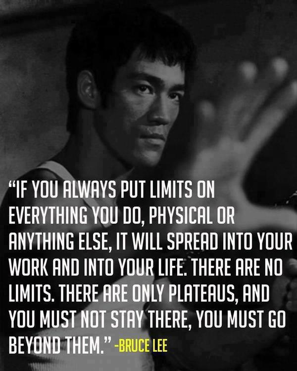 Bruce Lee Quote (About work success physical limits life exceed)