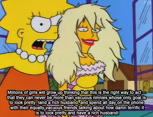 The Simpsons  Quote (About rich husband girl dream doll barbie)