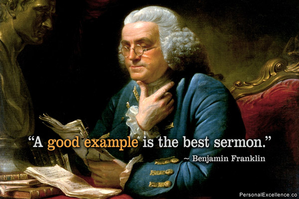 Benjamin Franklin  Quote (About sermon example)
