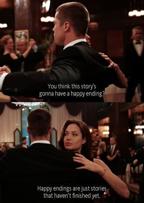 Mr. & Mrs. Smith (2005)  Quote (About story sad ending happy ending ending)