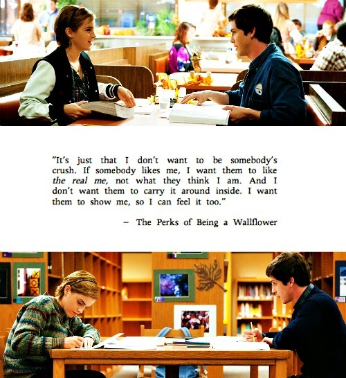 The Perks of Being a Wallflower (2012)  Quote (About real me real love feeling)