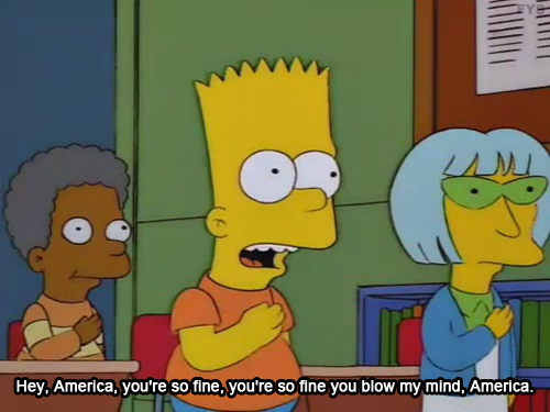 The Simpsons  Quote (About USA blow my mind America)