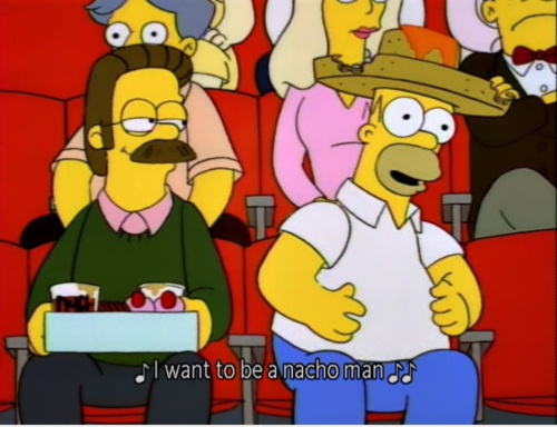 The Simpsons  Quote (About nacho mexico mexican)