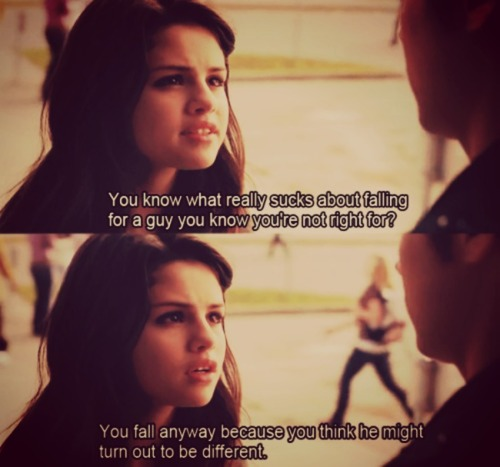 Another Cinderella Story Quote (About mr right love break up)