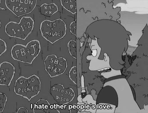 The Simpsons  Quote (About love hate)
