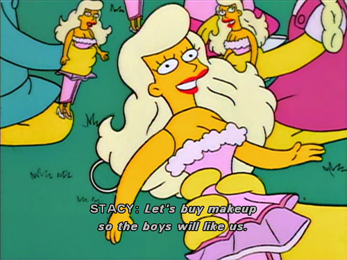 The Simpsons  Quote (About perfect girl makeup barbie)