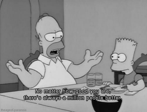 The Simpsons  Quote (About succes life learning learn improve better)