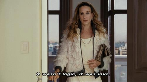 Sex in the City Quote (About love logic)