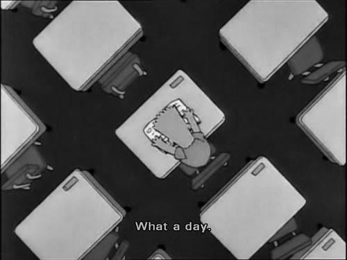 The Simpsons  Quote (About what a day tired busy)
