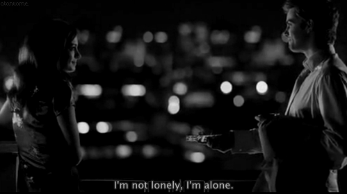 One Day (2011) Quote (About lonely alone)