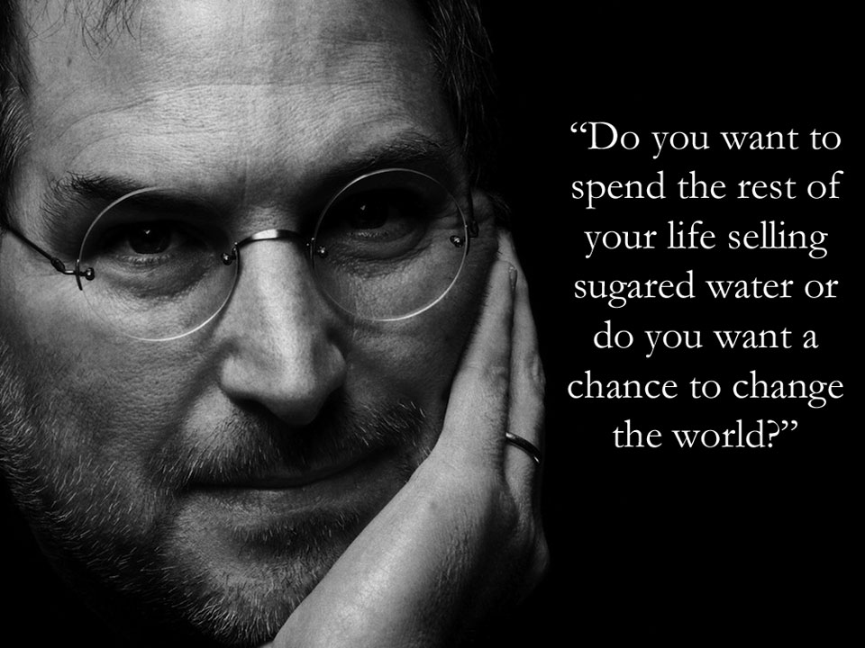 Steve Jobs  Quote (About life inspirational goal dream change the world chance)