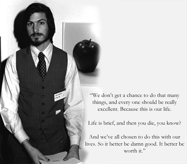 Steve Jobs  Quote (About worth work success life excellent damn good chance)