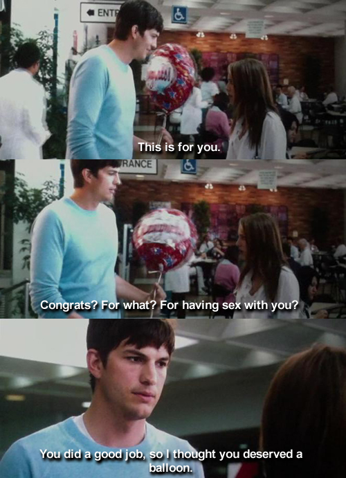 No Strings Attached (2011)  Quote (About sex ons good job fwb balloon)