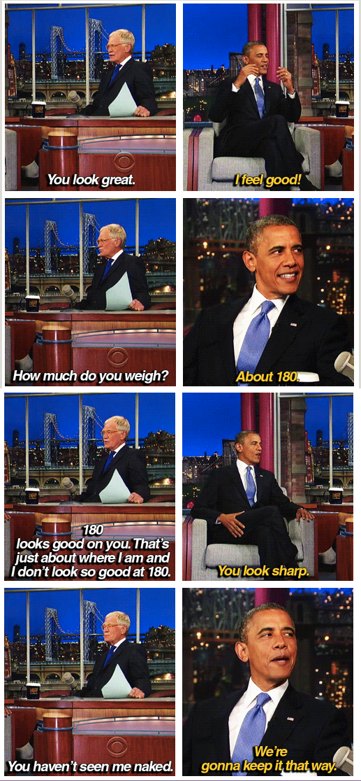 Late Show with David Letterman  Quote (About weight weigh sense of humor naked interview humor funny fit)