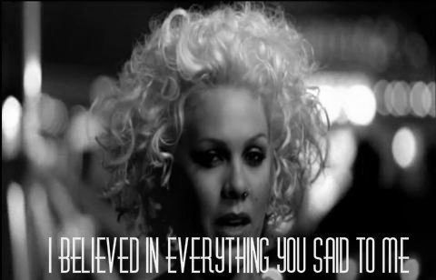 P!nk (Pink), Who Knew Quote (About trust relationship black and white believe)