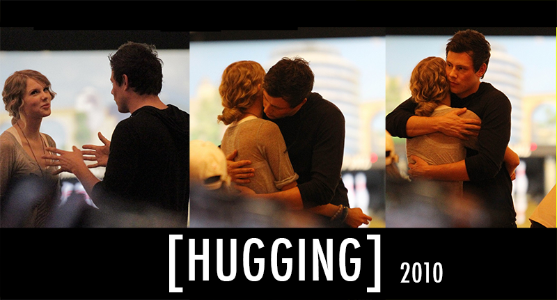 Taylor Swift,Cory Monteith  Quote (About rumours love hugging hug hanging out girlfriend gf dating boyfriend bowling bf)