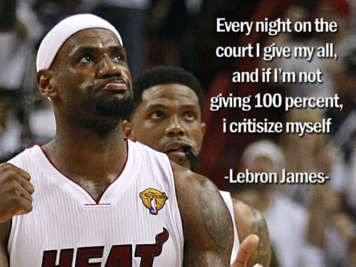 LeBron James  Quote (About success criticize basketball 100 percent)