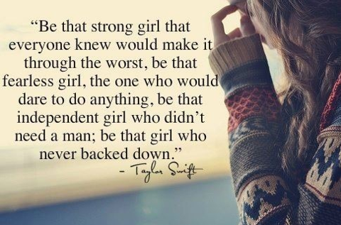 Independent Girl Quotes Taylor Swift Quote (About love inspirational independent girl  Independent Girl Quotes