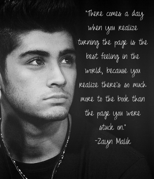 Zayn Malik Quote (About world reading page feeling book)