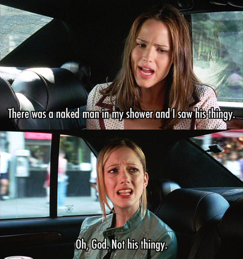 13 Going on 30 (2004) Quote (About thingy shower penis naked man funny)