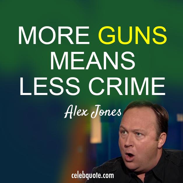 Alex Jones Quote (About guns gun laws crime America)