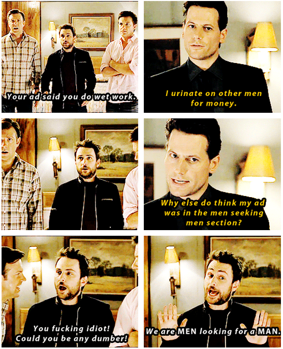 Horrible Bosses (2011) Quote (About watersports urinate men seeking men men for money lol funny)