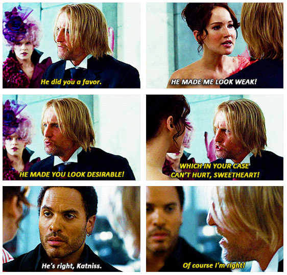The Hunger Games (2012) Quote (About weak favor desirable)