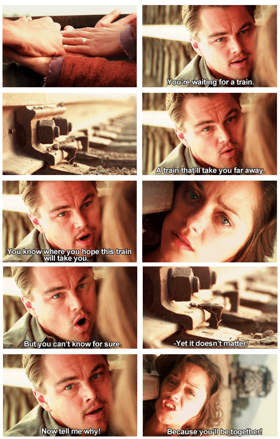 Inception (2010) Quote (About train scene suicide reality)
