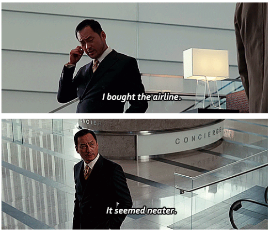 Inception (2010) Quote (About neat airline)