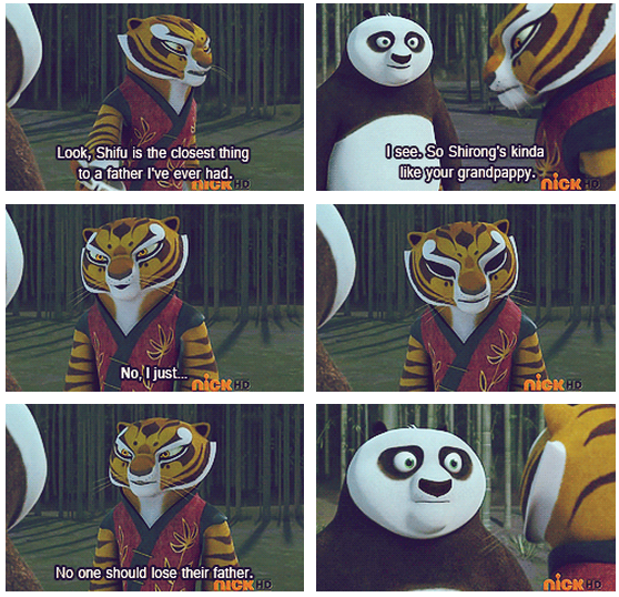 Kung Fu Panda (2008) Quote (About grandpa father family)