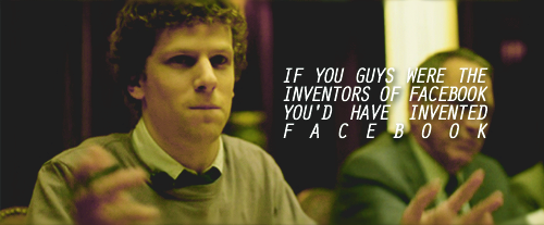 The Social Network (2010) Quote (About inventors founders facebook co founders)